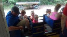 Isaiah and kids riding the train